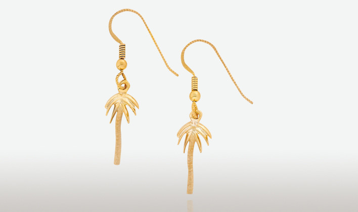 Peter costello design 639 small palm tree earrings for Anchor jewelry stuart fl